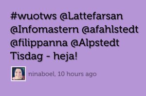 Visualisering med Visible tweets