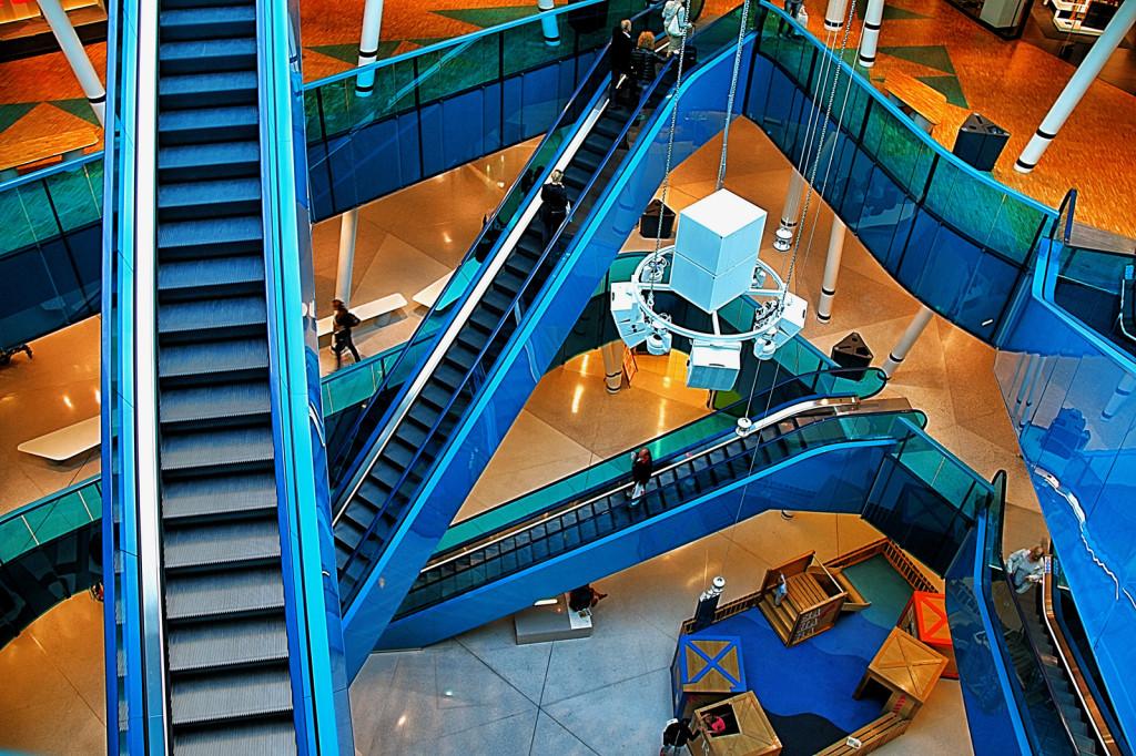 De blåa rulltrapporna