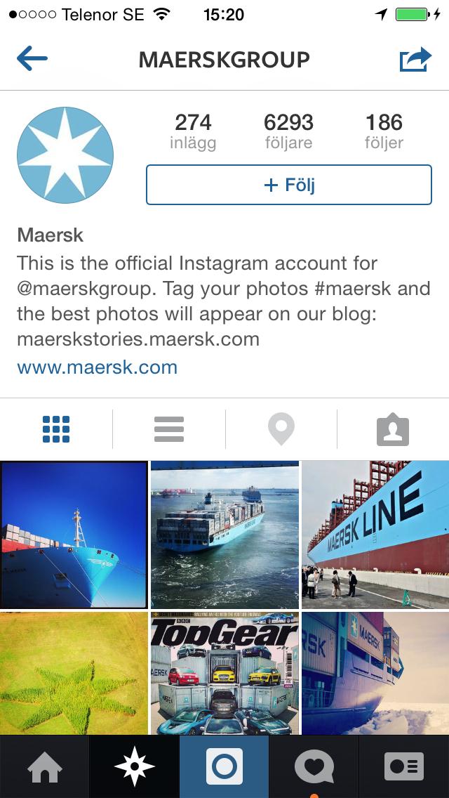 publicera andras bilder på instagram